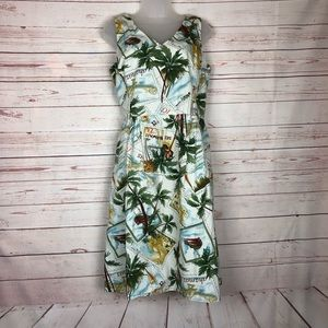 Sheri Martin Tropical Fit and Flare Dress Size 12